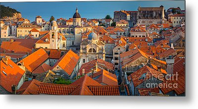 Dubrovnik Panorama Metal Print by Inge Johnsson