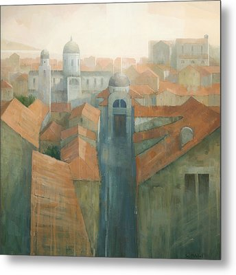Dubrovnik Rooftops Metal Print by Steve Mitchell