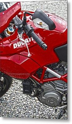 Ducati Red Metal Print by Diane E Berry