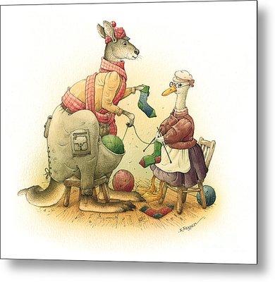 Duck And Kangaroo Metal Print by Kestutis Kasparavicius