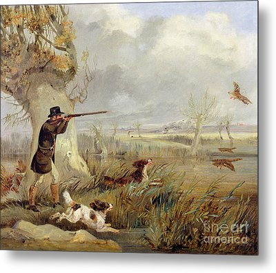 Duck Shooting  Metal Print by Henry Thomas Alken