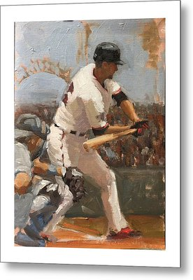 Duffy At Bat Metal Print by Darren Kerr
