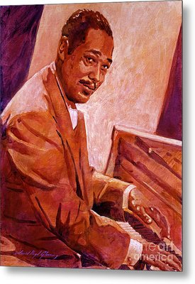 Duke Ellington Metal Print by David Lloyd Glover