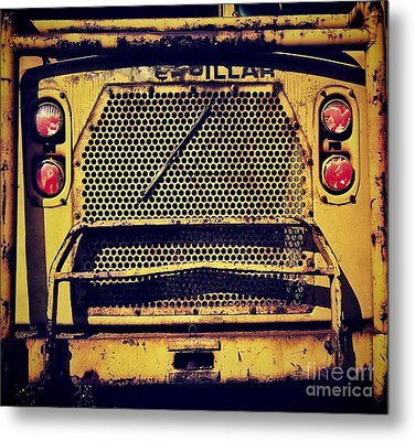 Dump Truck Grille Metal Print by Amy Cicconi