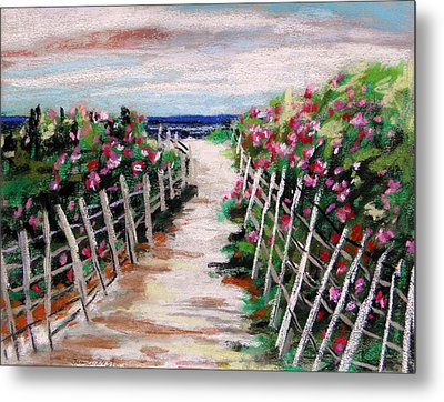 Dune Fence Metal Print by John Williams