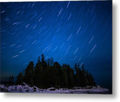 Dunks Point Star Trail Metal Print by Cale Best