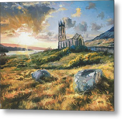 Dunlewy Church Metal Print by Conor McGuire