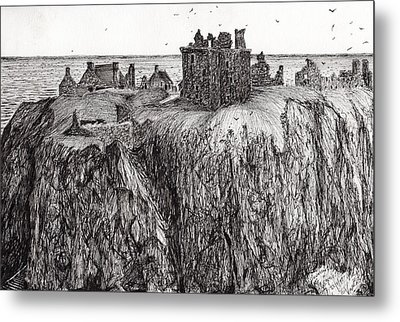 Dunottar Castle Metal Print by Vincent Alexander Booth