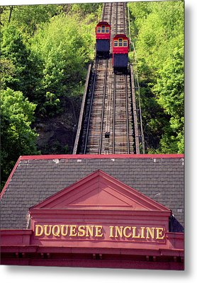 Duquesne Incline Metal Print by Tom Leach