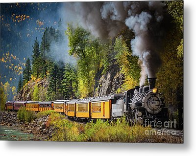 Durango-silverton Narrow Gauge Railroad Metal Print by Inge Johnsson