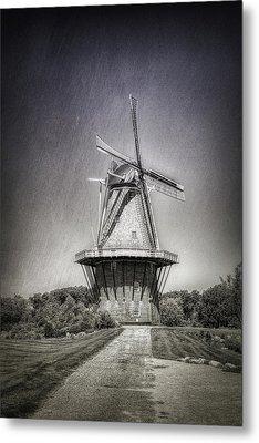 Dutch Windmill Metal Print by Tom Mc Nemar