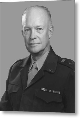 Dwight D. Eisenhower  Metal Print by War Is Hell Store