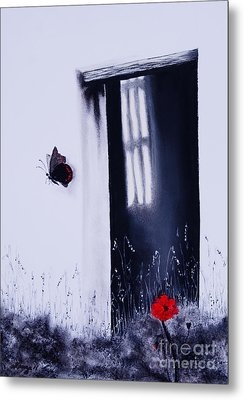 Dying Is Easy Metal Print by Stanza Widen