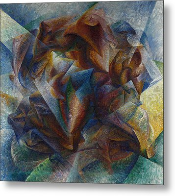 Dynamism Of A Soccer Player Metal Print by Umberto Boccioni