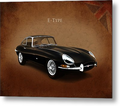 E Type Jaguar Metal Print by Mark Rogan