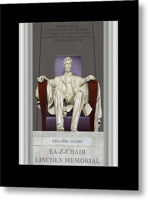 Ea-z-chair Lincoln Memorial Metal Print by Mike McGlothlen