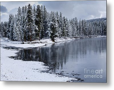 Early Fall Storm In Yellowstone Metal Print by Sandra Bronstein