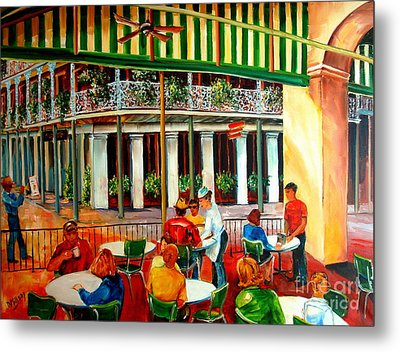 Early Morning At The Cafe Du Monde Metal Print by Diane Millsap