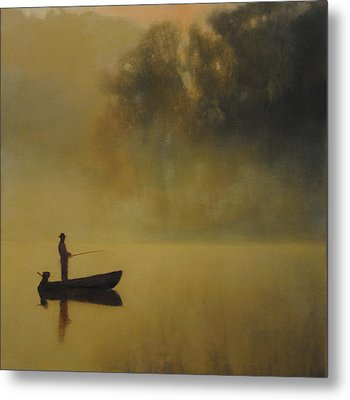 Early Morning Fish Sold Metal Print by Cap Pannell