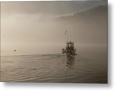 Early Morning Fishing Boat Metal Print by Chad Davis
