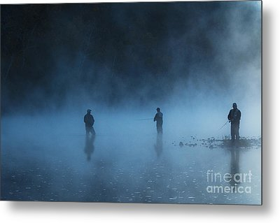 Early Morning Fishing Metal Print by Tamyra Ayles