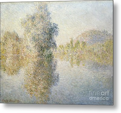 Early Morning On The Seine At Giverny Metal Print by Celestial Images
