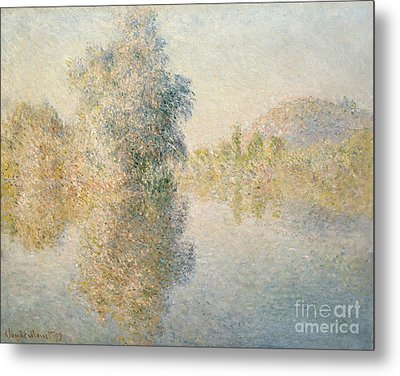 Early Morning On The Seine At Giverny Metal Print by Claude Monet