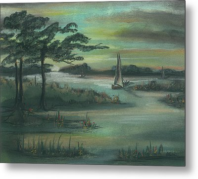 Early Morning Sunrise Metal Print by Shelby Kube