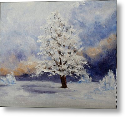 Early Snow Metal Print by Thomas Restifo