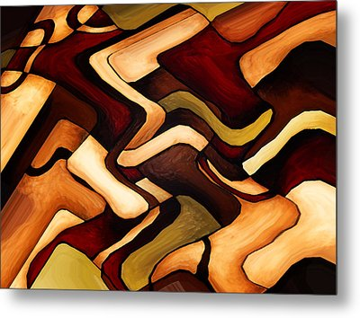 Earth Weave Metal Print by Vicky Brago-Mitchell