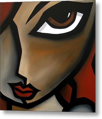 Earthy - Original Abstract Modern Painting By Fidostudio Metal Print by Tom Fedro - Fidostudio
