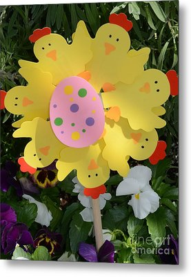 Easter Chick Decoration Metal Print by Kathleen Struckle