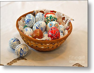 Easter Eggs Metal Print by Louise Heusinkveld