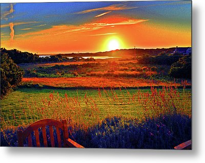 Eat Fire Spring Road Polpis Harbor Nantucket Metal Print by Duncan Pearson