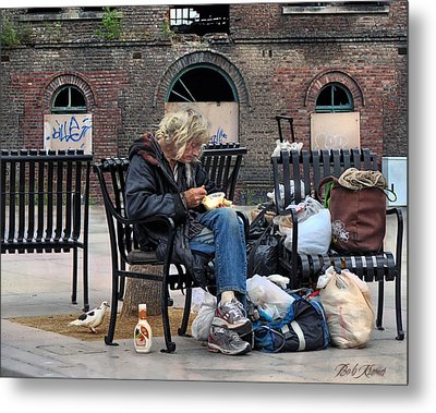 Eating Alone Is A Disappointment .... Metal Print by Bob Kramer
