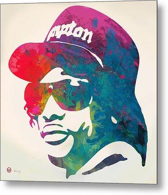 Eazy-e Pop  Stylised Pop Art Poster Metal Print by Kim Wang