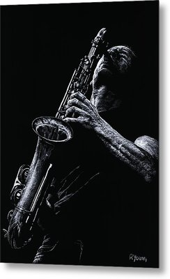 Eclectic Sax Metal Print by Richard Young