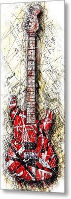 Eddie's Guitar Vert 1a Metal Print by Gary Bodnar