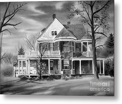Edgar Home Bw Metal Print by Kip DeVore