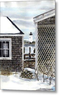 Edgartown Winter Metal Print by Paul Gardner