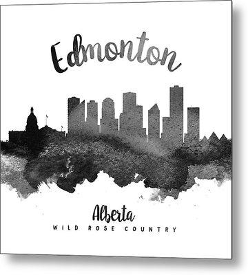 Edmonton Alberta Skyline 18 Metal Print by Aged Pixel