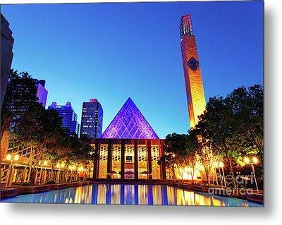Edmonton City Hall At Dusk Metal Print by Ian MacDonald