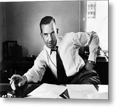 Edward R. Murrow, 1954 Metal Print by Everett