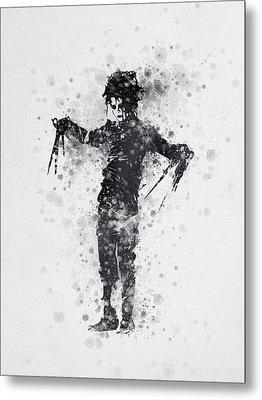 Edward Scissorhands 01 Metal Print by Aged Pixel