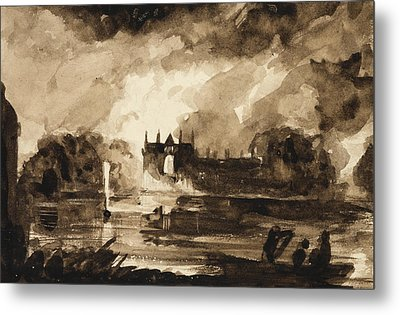 Effect For Newstead Abbey Metal Print by Thomas Cole