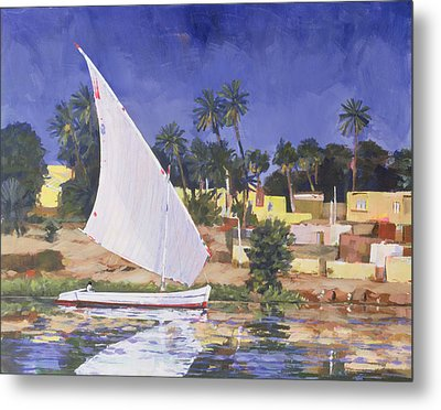 Egypt Blue Metal Print by Clive Metcalfe
