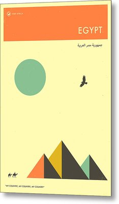 Egypt Travel Poster Metal Print by Jazzberry Blue