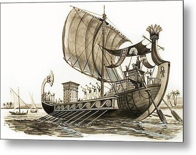 Egyptian Galley Metal Print by Peter Jackson