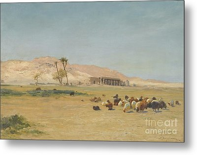 Egyptian Landscape Metal Print by Celestial Images