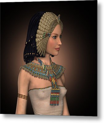 Egyptian Princess Metal Print by David Griffith